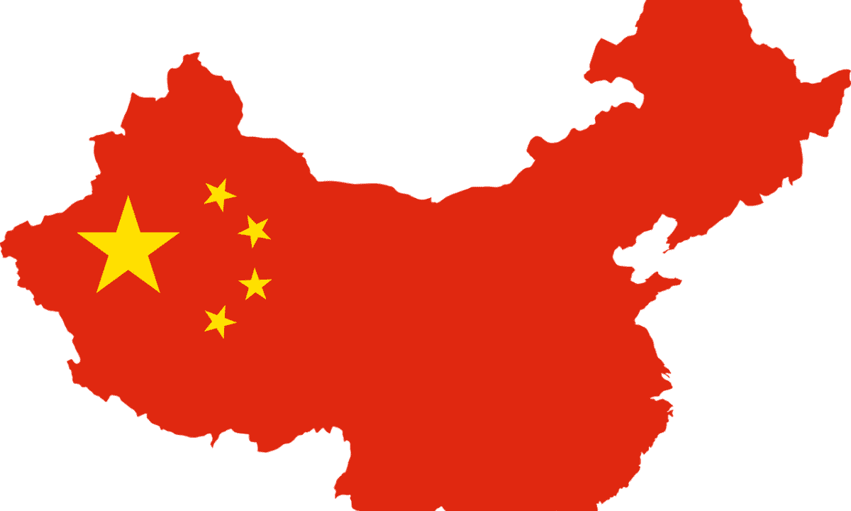 中国大陸と国旗